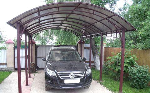 А можно сделать гараж из поликарбоната?