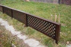 Gard de lemn secțiune