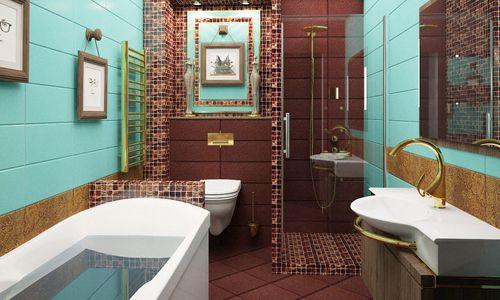 Дизайн ванной комнаты с вариантами расположения душевой кабины
