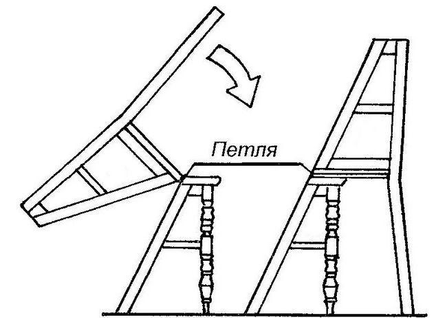 Изготовление лестницы-стула