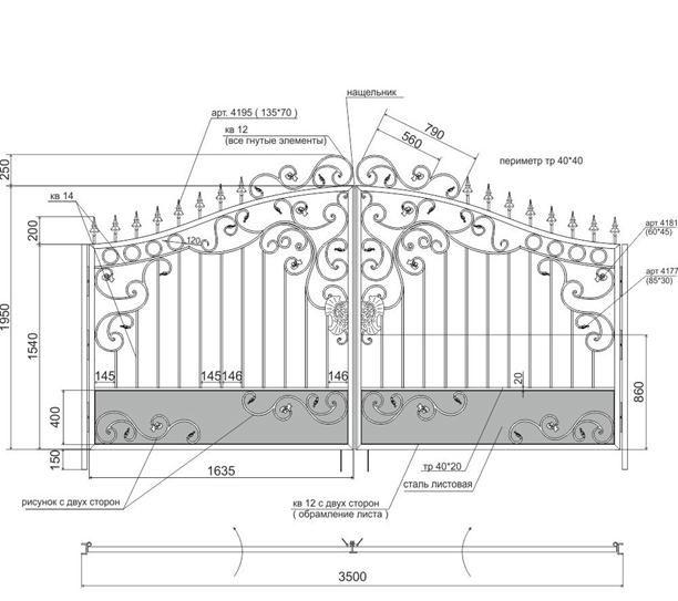 Cum de a face propriile mâini elemente decorative din fier forjat?