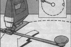 Схема вырезания круга электролобзиком