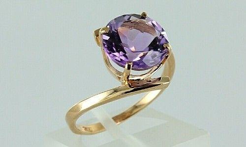 Как выбрать золотое кольцо с аметистом