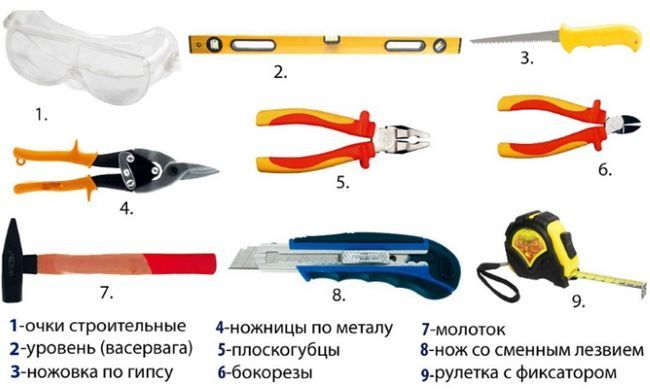 Instrumente pentru gips-carton