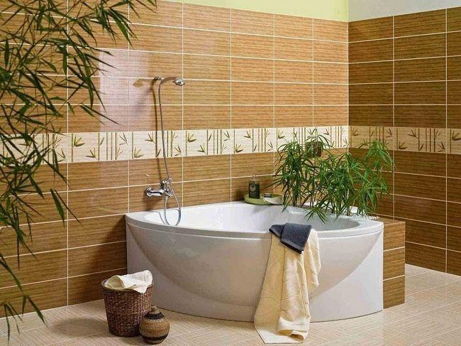 Несколько вариантов облицовки плиткой ванной комнаты