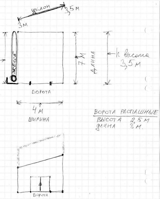 Garaj pentru constructii