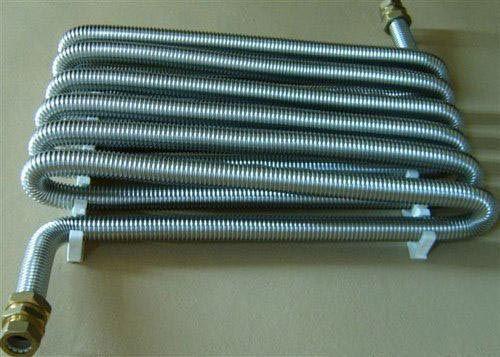 Aplicarea unei țevi ondulate din oțel inoxidabil